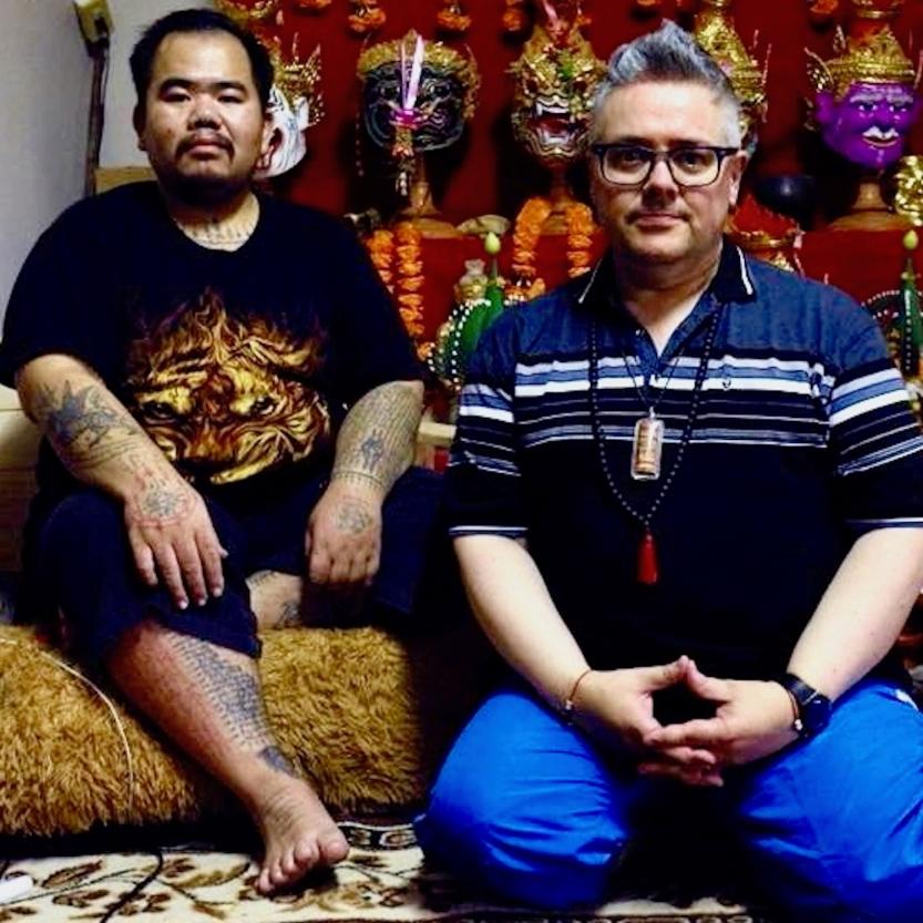 Ajarn Suea Blesses Lek Nam Phi Phrakham Beads - Ajarn Suea & Sheer Zed